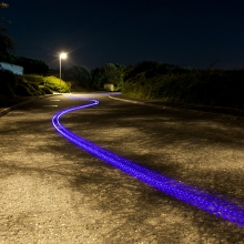 Mello LED Skateboard - Carving a path through the Sunset