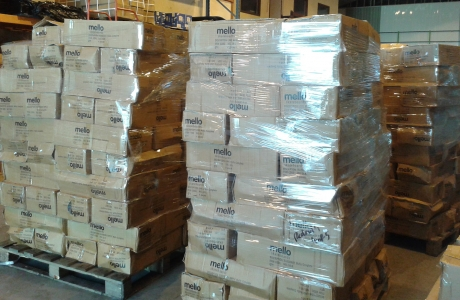 mello boxes in warehouse
